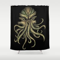 cthulhu Shower Curtains featuring Cthulhu by GonZoNick13