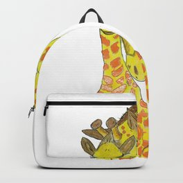 Embossed Mother & Baby Giraffe Backpack