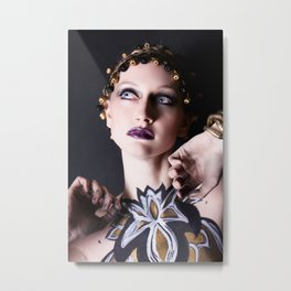Gold Goddess VII. Metal Print