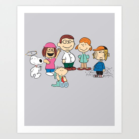 The Griffin Gang Art Print