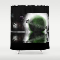 planets Shower Curtains featuring Planets by DebbieHughes