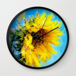 Essence of a Sunflower by Barbara Chichester 2016 Wall Clock