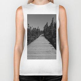 walkway through the trees Biker Tank