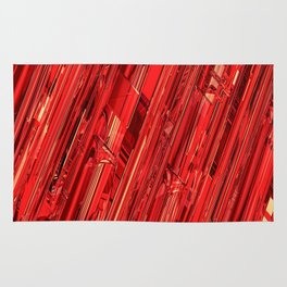 Speed Demon / Abstract 3D render of glass and metal Rug