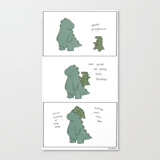 King Godzilla  Canvas Print
