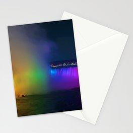 Rainbow Niagara Falls Waterfall (Color) Stationery Cards