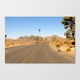 Girl Searching Canvas Print