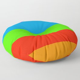 Fluorescent Rainbow |7 Colours Floor Pillow