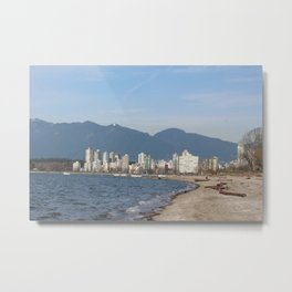 View of Vancouver from Kits Beach Metal Print