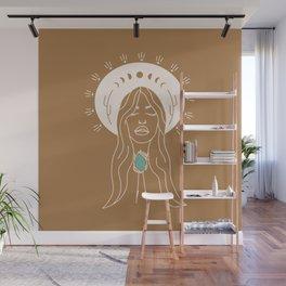 Desert Angel in Camel & Turquoise Wall Mural