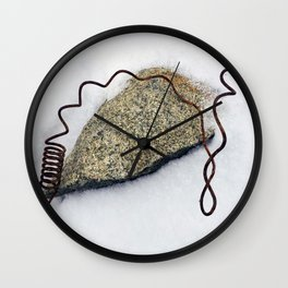 Spring in the Snow Wall Clock