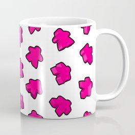 Meeple Mania Pink Coffee Mug