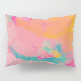 full color abstract sunset Pillow Sham