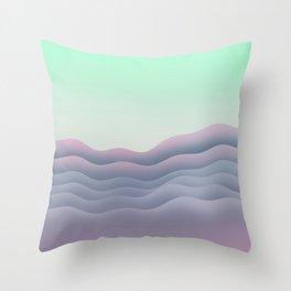 iso mountain sunset Throw Pillow