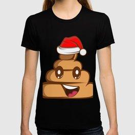 Poo Kot Smiley Funny Christmas Free Gift T-shirt