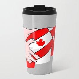 Canada Rugby Flag Travel Mug
