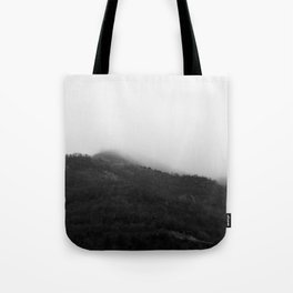 Foggy Mountains Tote Bag