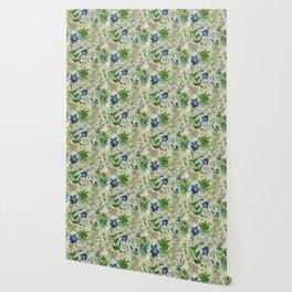 Alpine Flowers - Gentian, Edelweiss Wallpaper