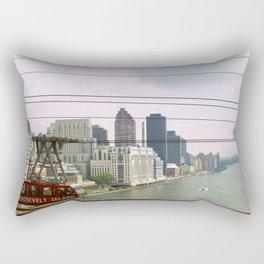 Roosevelt Island Tramway Passing By, New York City Rectangular Pillow