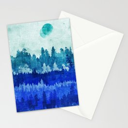 The Blue Forest Moon Stationery Cards