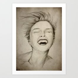 laughing girl Art Print