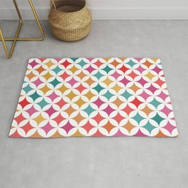 Geometric Star Pattern - Retro #926 Rug
