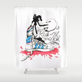 Lick My Sneack Shower Curtain