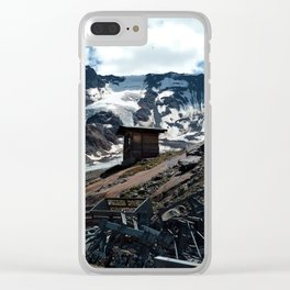 glacier end kaunertal alps tyrol austria europe Clear iPhone Case