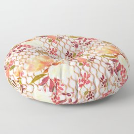 Lovely Floral Pattern Floor Pillow