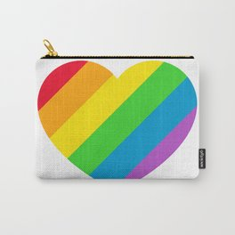Rainbow LGBT Pride Heart Carry-All Pouch