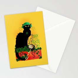 St Patrick's Day - Le Chat Noir Stationery Cards