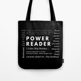 Power Reader Tote Bag