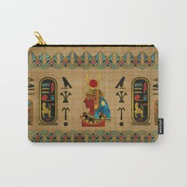 Hathor Egyptian Ornament on papyrus Carry-All Pouch