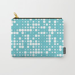 white polka dots Carry-All Pouch