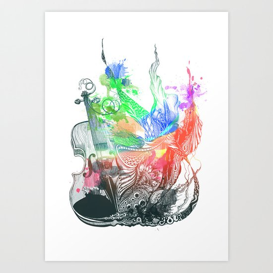 Fiddle Art Print