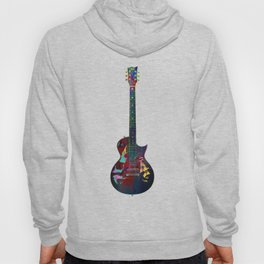 Sounds of music. Colorful guitar. Hoody