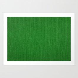 Green cord fabric Art Print