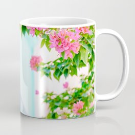 Colonial Havana Architecture with Pink Bougainvillea Coffee Mug