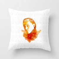 loki Throw Pillows featuring Loki by MadTee