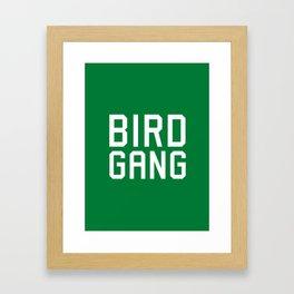Bird gang Framed Art Print