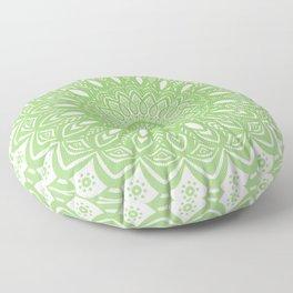 Light Lime Green Mandala Simple Minimal Minimalistic Floor Pillow