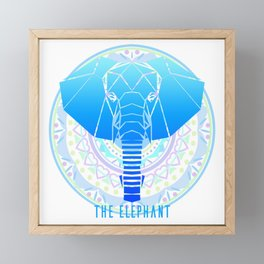 The Elephant Framed Mini Art Print