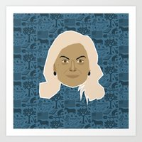 parks and recreation Art Prints featuring Leslie Knope - Parks and recreation by Kuki