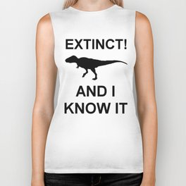Extinct T-Rex Biker Tank