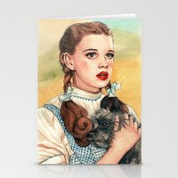 kansas Stationery Cards featuring I Don't Think We're In Kansas Anymore by Helen Green