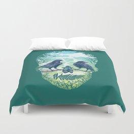 Nature's Skull (Green) Duvet Cover