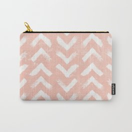 Paintbrush Arrow Pattern Blush Pink Carry-All Pouch