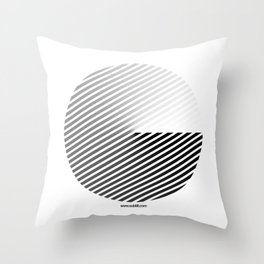 Stripes Can be in a Disc Throw Pillow