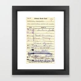 Library Card 780 The Wonderful World of Music Framed Art Print
