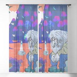 Norwegian giant  Troll 4 Sheer Curtain